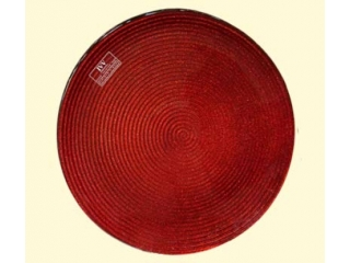 "Platou ""Helix"", Red, 22 cm, 1 buc."