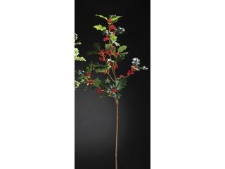 "Creanga artificiala ""Agrifoglio"" Green-Red H92 cm, 1 buc"