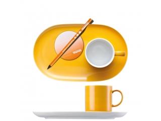 "Set espresso ""Sunny Day"" Yellow, 2 pcs"