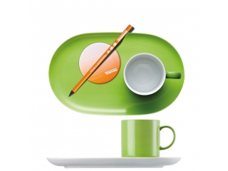 "Set espresso ""Sunny Day"" Apple Green, 2 pcs"