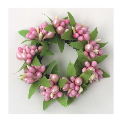 "Coronita ""Berry"" (S) D7cm Pink, 1 buc, Coronite  artificiale,"