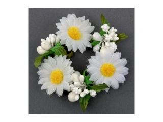 "Coronita ""Daisy"" (S) D8cm, White, 1 buc"