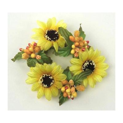 """Coronita """"Daisy"""" (S) D8cm, Yellow, 1 buc, Coronite  artificiale,"""