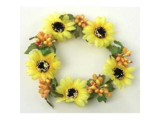 "Coronita ""Daisy"" (L) D11cm, Yellow, 1 buc"
