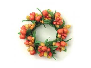 "Coronita ""Berry"" (S) D8cm, Orange, 1 buc"