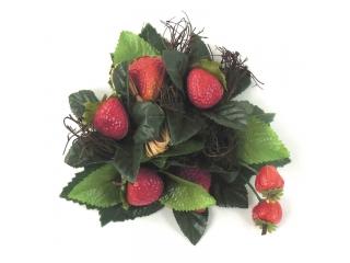 "Coronita ""Streawberry"" (S) D14cm red/green, 1 buc"