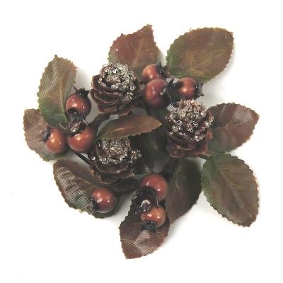 """Coronita """"Automn berry cone"""" (S), Brown, 1 buc., Coronite  artificiale,"""