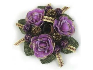"Coronita ""Rose Berry Ribbon"" Lilac/Gold, 1 buc."