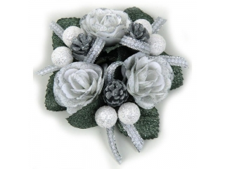 "Coronita ""Rose Berry Ribbon"" White/Silver, 1 buc."