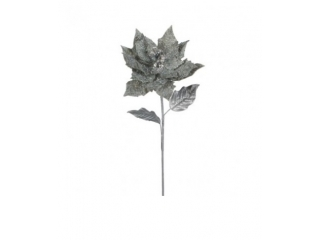 "Floare artificiala ""POINSETTIA"" GRAY H71 GREY, 1 buc."