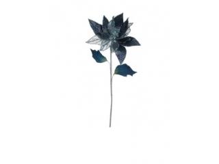 "Floare artificiala ""SAPPHIRE POINSETTIA"" D.BLUE  L33, 1 buc"