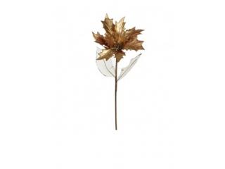 "Floare artificiala  ""GILDED POINSETTIA"" GOLD L66, 1 buc"