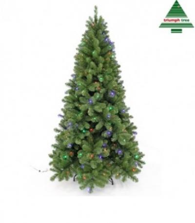 Brad cu 248 LED TUSCAN H215D135 GREEN comutabil, 1 buc, Brazi artificiali,
