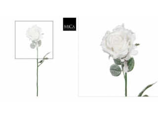 "Floare artificiala ""Rose"" White  H69cm, 1 buc."