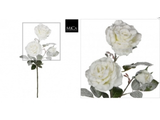 "Floare artificiala ""Rose"" White  H76cm, 1 buc."