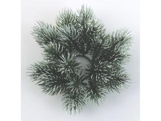 """Coronita """"Pine"""" D11.5cm . green/white, 1 buc"""