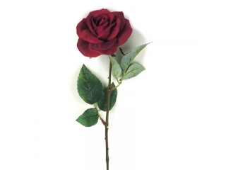 "Floare artificiala ""Trandafir"", Red, L50 cm, 1 buc."