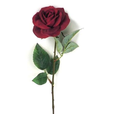 "Floare artificiala ""Trandafir"", Red, L50 cm, 1 buc., Flori artificiale,"