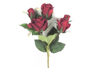 "Creanga artificiala ""Trandafir x 3"" Red, L47 cm, 1 buc."