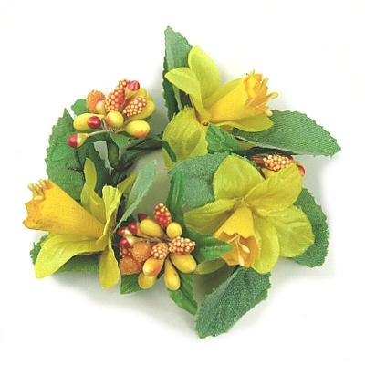 "Coronita ""Narcis"" (S). Yellow/green 1 buc, Coronite  artificiale,"
