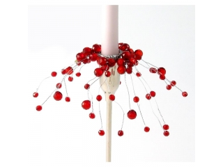 "Coronita""Ciber pearl "" Red, D2.5cm , 1 buc."