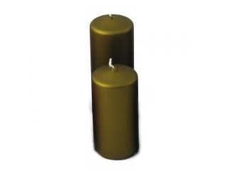 Lumnare cilindrica, H12 D6cm.Olive,1 buc