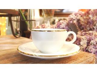 """""""Opus Gold"""" Cana ceai cu farfurioara, 1 set."""