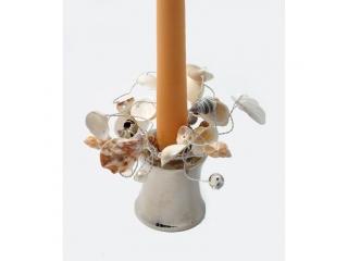 """Coronita din scoici """"Shell"""" (S) D3cm Natural, 1 buc"""