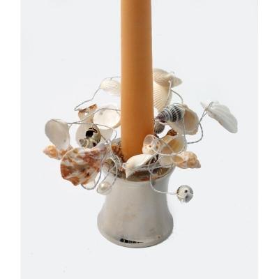 """Coronita din scoici """"Shell"""" (S) D3cm Natural, 1 buc, Coronite  artificiale,"""