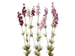 "Floare artificiala ""Delphiniuml"" H80cm, Violet, 1 buc"