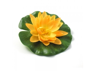 "Floare artificiala ""Lotus"" d14 cm, yellow, 1 buc"