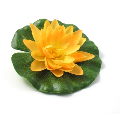 "Floare artificiala ""Lotus"" d14 cm, yellow, 1 buc, Flori artificiale,"