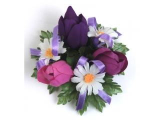 """Coronita """"Spring Tulip"""" D10cm Purple, 1 buc"""