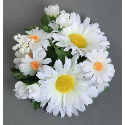 """Coronita """"Daisy Wild"""" D12cm White, 1 buc, Coronite  artificiale,"""
