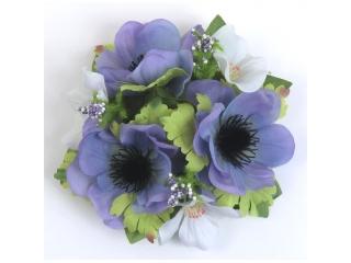 "Coronita ""Anemone"" D12cm ,Blue, 1 buc"