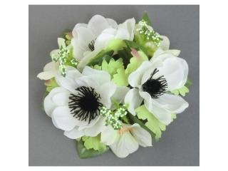"""Coronita """"Anemone"""" D12cm ,White, 1 buc"""