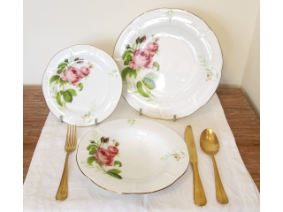 """Rose & Butterfly"" Set farfurii 18 piese"