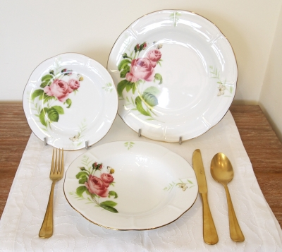 """Rose & Butterfly"" Set farfurii 18 piese, ROSE & BUTTERFLY,"