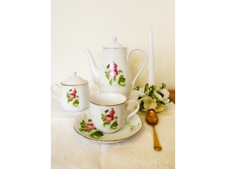 """""""Rose & Butterfly"""" Set cafea, 17 piese"""
