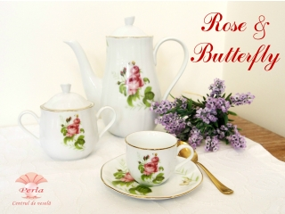 """""""Rose & Butterfly"""" Set ceai, 29 piese"""