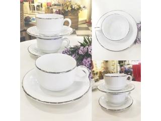 """""""Opus Platinum"""" Cana ceai cu farfurioara, 1 set."""