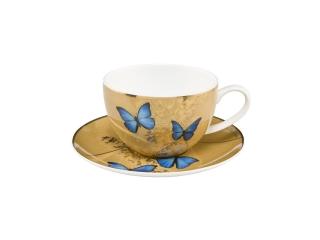 "Cana cu farfurioara ""Blue Butterflies"", 0,25 l, 1 buc"