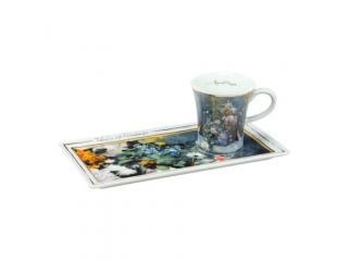 "Cana cu farfurioara ""Spring Flowers"", 20x10 cm, 1 buc"
