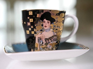 "Set cana cu farfurioara ""Adele Bloch-Bauer"" 0,1 l, 6,5 cm, 1 buc"
