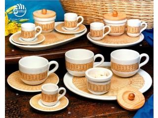 """Set p-u cafea cu platou """"Tiziana"""", 2/5 piese"""