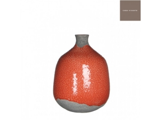 "Vaza ""Cynthia Bottle"" Red, H26xD18cm, 1 buc"