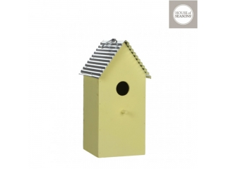 "Decor de agatat ""birdhome"", yellow L13xW15xH28cm, 1 buc."