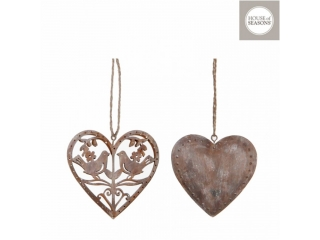 "Decor de agatat ""Heart"" 2ASS Brown, L7xW1.5xH8cm, 1 buc"