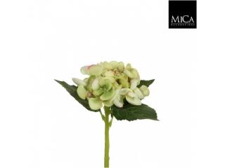"""Floare artificiala """"Hydrangea"""" L22 Green, 1 buc"""