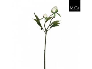 "Floare artificiala ""Peony"" White, L46cm, 1 buc"